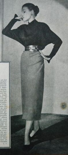 blouse and skirt, Libelle 1948