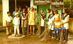 """Welcome Back Gandhi"", a work by a director who foresaw what is coming !! Gandhi invites future generation to raise broom to wipe out the noxious corruption from India."
