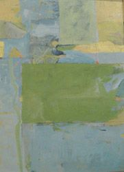 untitled no.4 ~ mixed media on unstretched canvas ~ c.2006 ~ by james o'shea
