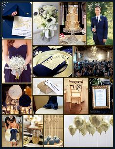 "An English Rose, Luxury Lifestyle Weddings - Navy and Gold Wedding... Live those gold balloons! Super neat as ""send away"" path or to release after ceremony."