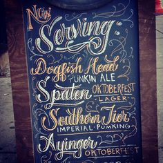 Love the typeface almost as much as I love the content. In the end, however, pumpkin ale will prevail