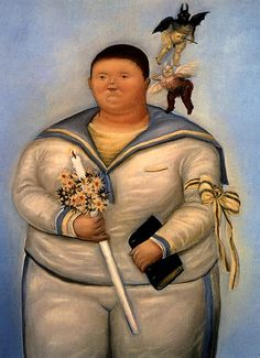 Fernando Botero, Self Portrait on the Day of My First Communion