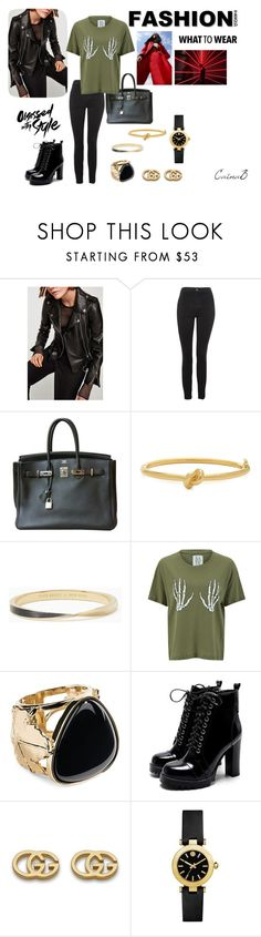CaïnaB : #001 by cainabrown on Polyvore featuring mode, Zoe Karssen, Topshop, Hermès, Tory Burch, Aurélie Bidermann, Gucci, Kate Spade and fashionset