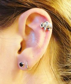 Elephant Cartliage Earring Conch Tragus Helix Piercing on Etsy, $8.00