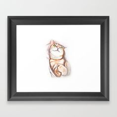 #catlovers FRAMED ART PRINT SCOOP WHITE MINI Choose from a variety of frame styles, colors and sizes to complement your favorite Society6 gallery, or fine art print - made ready to hang. Fine-crafted from solid woods, premium shatterproof acrylic protects the face of the art print, while an acid free dust cover on the back provides a custom finish. All framed art prints include wall hanging hardware.