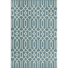 Momeni Baja Blue Indoor/Outdoor Area Rug VI