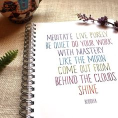 Have a lovely Wednesday... #lifequotes #wellnesswednesday #slowdown #mindfulness #notebooks #journals
