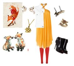 """I'm a Fox"" by baileyem-1 on Polyvore featuring Monde Mosaic, WearAll, Jay Ahr, STELLA McCARTNEY, Givenchy, And Mary, Palm Beach Jewelry and Kalk Bay"