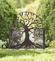 Metal Garden Gate with Tree of Life Design | Arbors