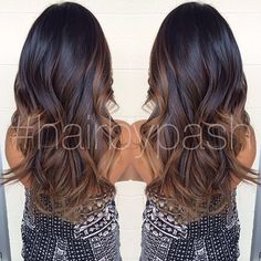 #ShareIG #ombre #hairbypash this is what I would have done on my hair. love the darker color and caramel highlights!