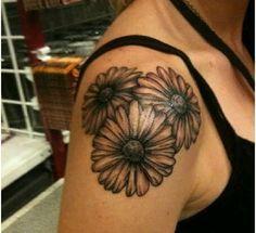 3 daisies tattoo