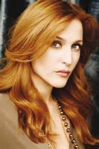 red hair. Gillian Anderson.