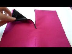 Cremallera invisible en prenda con forro - YouTube                                                                                                                                                                                 Más