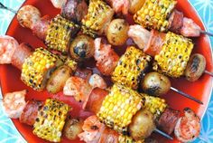 Grilling Recipes: 100 Ideas For Summer (PHOTOS) -- I would do this with Andouille and bright peppers too...