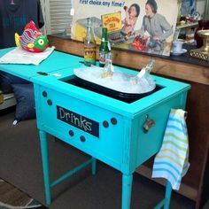 Old sewing machine cabinet. Finally an idea u can do!!