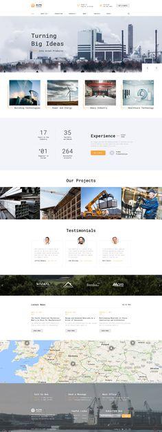 Alfa Industries - Heavy #industriel  Multipage #website  #template #61397