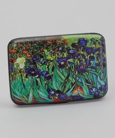 Look at this Green & Blue Irises Armored Wallet on #zulily today!