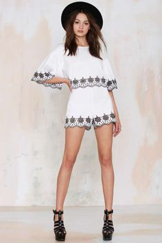 Glamorous Wynette Embroidered Eyelet Top - Cropped | Shirts + Blouses | Sets