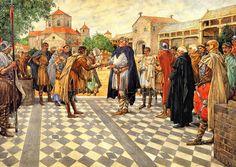 Karel de Grote te #Aken, 808. Uitzending van de #Koningsboden   #Schoolplaat #Isings