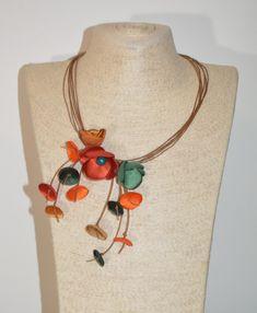 Floral Necklace, Flower Statement Necklace, Vintage Jewelry Floral Necklace, Flower Jewelry, Handmade Flowers, Vintage Flowers, Necklace Lengths, Vintage Jewelry, Pendants, Etsy Shop, Creative