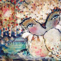 Love Me Still - 8x8 inch Print of a Reproduction of the Original Mixed Media Painting by Juliette Crane. http://juliettecrane.com