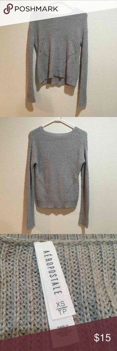 Grey Aeropostale Sweater Warm, grey aeropostale sweater. Aeropostale Tops Sweatshirts & Hoodies