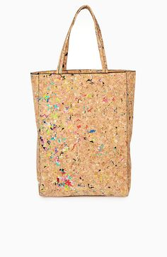 Mutli-colored cork bag from DailyLook