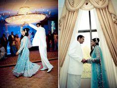 Indian wedding, blue bridal lengha copy