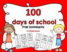 FREE bookmarks for the 100th day of school
