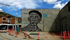 Retrato de Fernando González hecho por Toxicómano, en Medellín - Colombia Fotos de @medellinstreetart y @mickwho