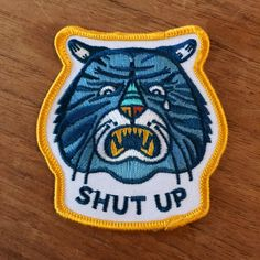 Shut Up Sad Tiger embroidered patch by The Little Friends of Printmaking