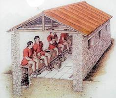 Reconstruction of a Roman latrine                             LOL!!!!!