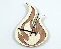 12'' Wooden Wall Clock / Home Decor / Housewares /