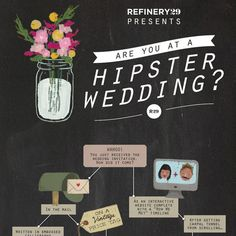 Ha! Love this: Are you at a hipster wedding?