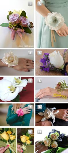 10 DIY Prom Or Wedding Corsages - The Frugal Female