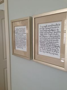 On Their First Anniversary, Wendy and Kyle Frame Their Wedding Vows for the Walls of Their New Home  -  http://ncweddingministerblog.blogspot.com/2015/11/on-their-first-anniversary-wendy-and.html