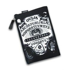 Ouija Cosmetic Bag #OuijaBag #black #cosmetic #dark #WomenBags