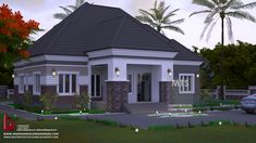 1 new message Modern Bungalow House Design, Modern Bungalow Exterior, Duplex House Design, Dream House Exterior, Bungalow Designs, House Plans Mansion, My House Plans, Verona, Four Bedroom House Plans