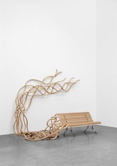 Available for sale from Carpenters Workshop Gallery, Pablo Reinoso, Spaghetti Bale Wood and Steel, 253 × 320 × 168 cm Art Nouveau, Art Certificate, Art Decor, Home Decor, Tree Branches, Spaghetti, Sculptures, Artsy, House Design