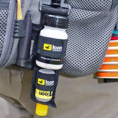 The Large Caddy is the combination of the small and medium caddies. Now Aquel and Top Ride, or any combination of 1/2 oz and 2 oz Loon Products, are kept together for easy use.
