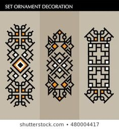 Discover recipes, home ideas, style inspiration and other ideas to try. Motifs Blackwork, Motifs Aztèques, Border Embroidery Designs, Embroidery Patterns, Machine Embroidery, Diy Embroidery Shirt, Hand Embroidery Dress, Stencil Fabric, Stencil Art