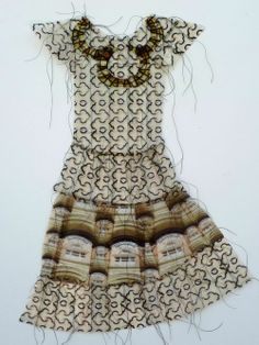 Hand Stitched Photograph Dresses by Gwen Samuels