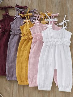 Sommer Baby Mädchen Strap Strampler Overall 0 2 + # . - Jumpsuits and Romper - Baby Baby Girl Dress Patterns, Baby Clothes Patterns, Dresses Kids Girl, Cute Baby Clothes, Kids Outfits, Baby Girl Dress Design, Babies Clothes, Baby Girl Jumpsuit, Baby Dress