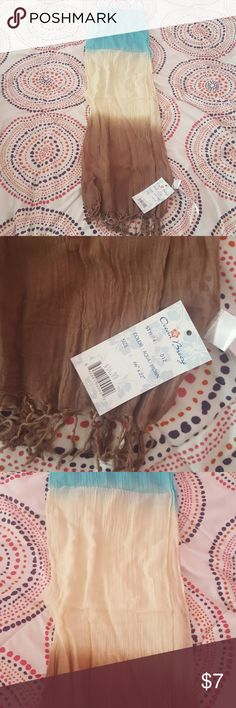 ombre NWT scarf NWT blue, cream and brown ombre lightweight scarf ocean breeze Accessories Scarves & Wraps