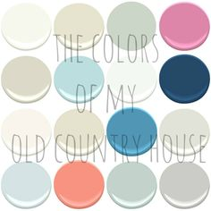THE 2015 UPDATE OF THE COLORS OF MY OLD COUNTRY HOUSE