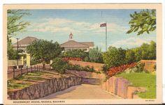 1963 Postmarked Postcard Government House Nassau Bahamas - Advintage Plus