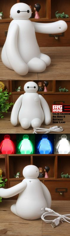 Color Changing Big Hero 6 Baymax Desk Lamp! Click The Image To Buy It Now or Tag Someone You Want To Buy This For.  #BigHero