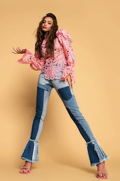 THIRD GENERATION NOUVEAU FLARE JEANS in medium blue denim May We All, Country Singers, Flare Jeans, Blue Denim, Third, Medium, Clothes, Style, Fashion