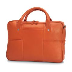 Giorgio Fedon Orange Leather Briefcase Orange Leather, Leather Briefcase, Mens Fashion, Luxury, Boston, Prince, Bags, Accessories, Random