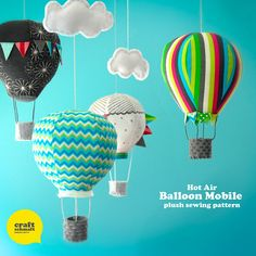 Air Balloon Mobile Pattern by CraftSchmaft on Etsy